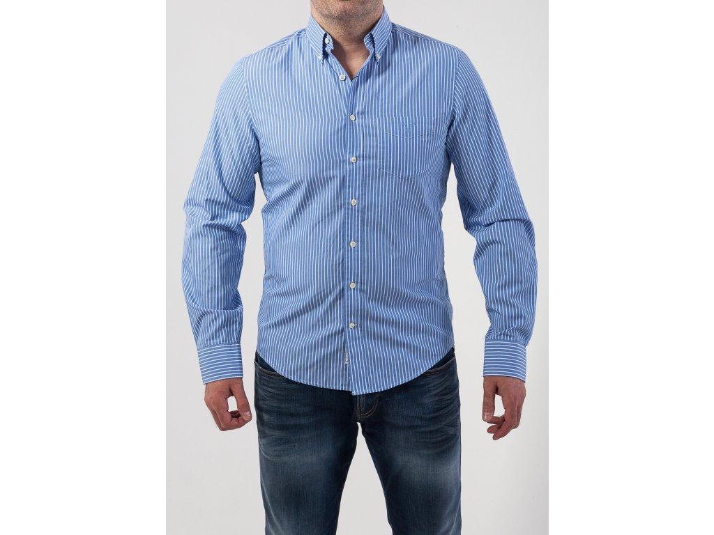 1ed5d44ce08b Pánska košeľa s modrými pruhmi GANT - TOP OUTLET