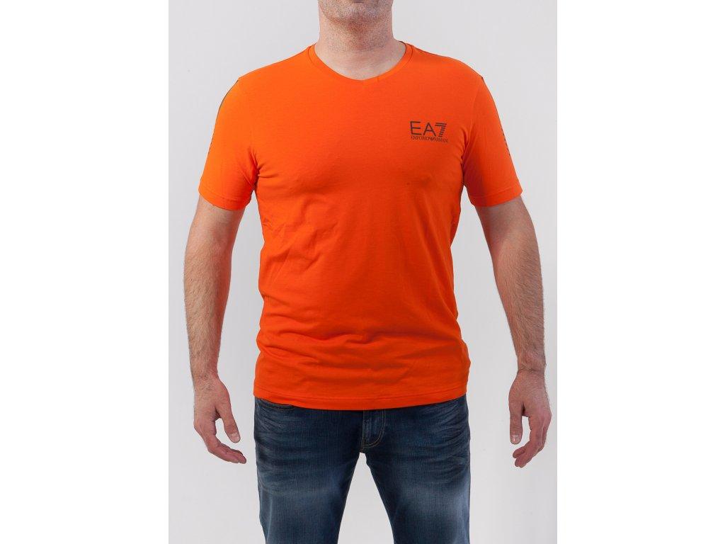 2ad0449b5c1e Pánske oranžové tričko Emporio Armani - TOP OUTLET