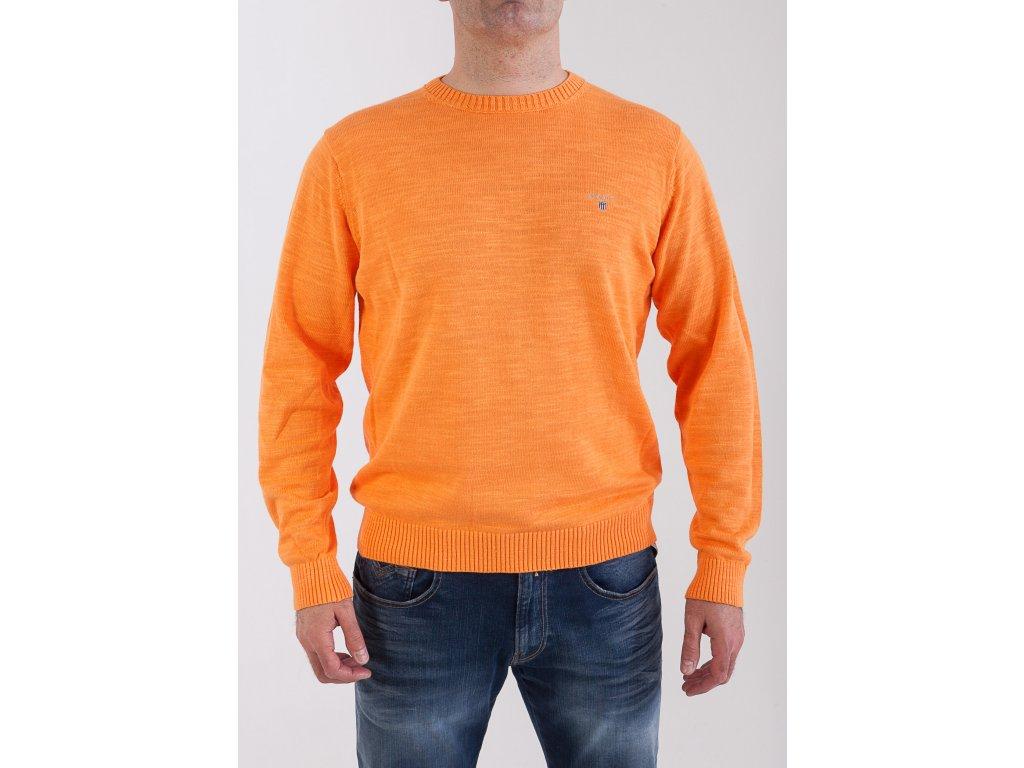 d54f4041e13f Pánsky oranžový sveter GANT - TOP OUTLET