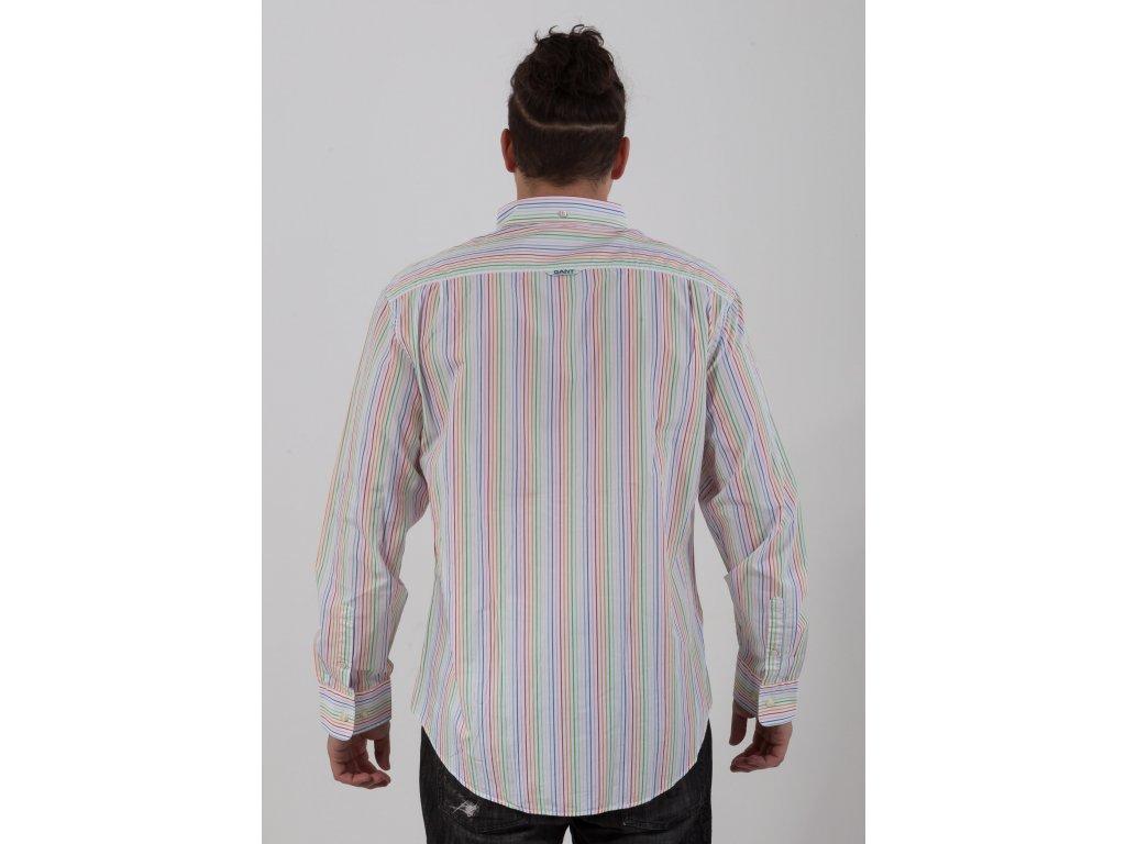 d9a86208f7d8 Pánska farebne pruhovaná košeľa Gant - TOP OUTLET
