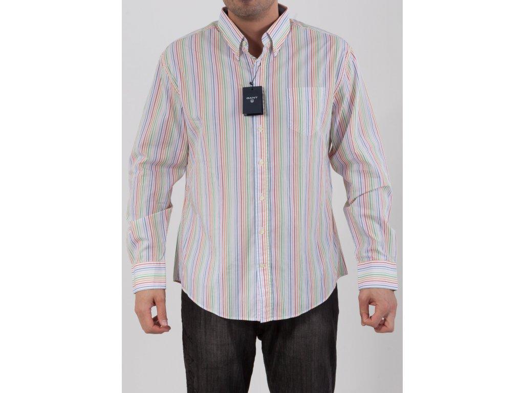 c72de5edf663 Pánska farebne pruhovaná košeľa Gant - TOP OUTLET