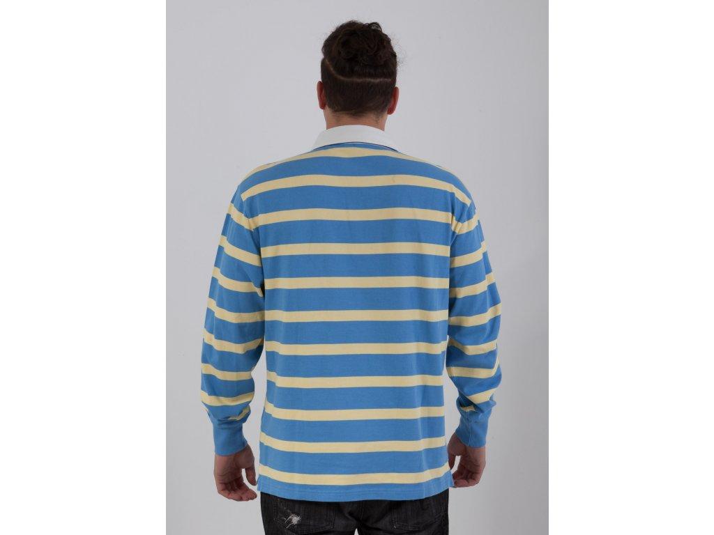 93937ba45ce4 Pánske teplé modro-žlté polotričko Gant - TOP OUTLET