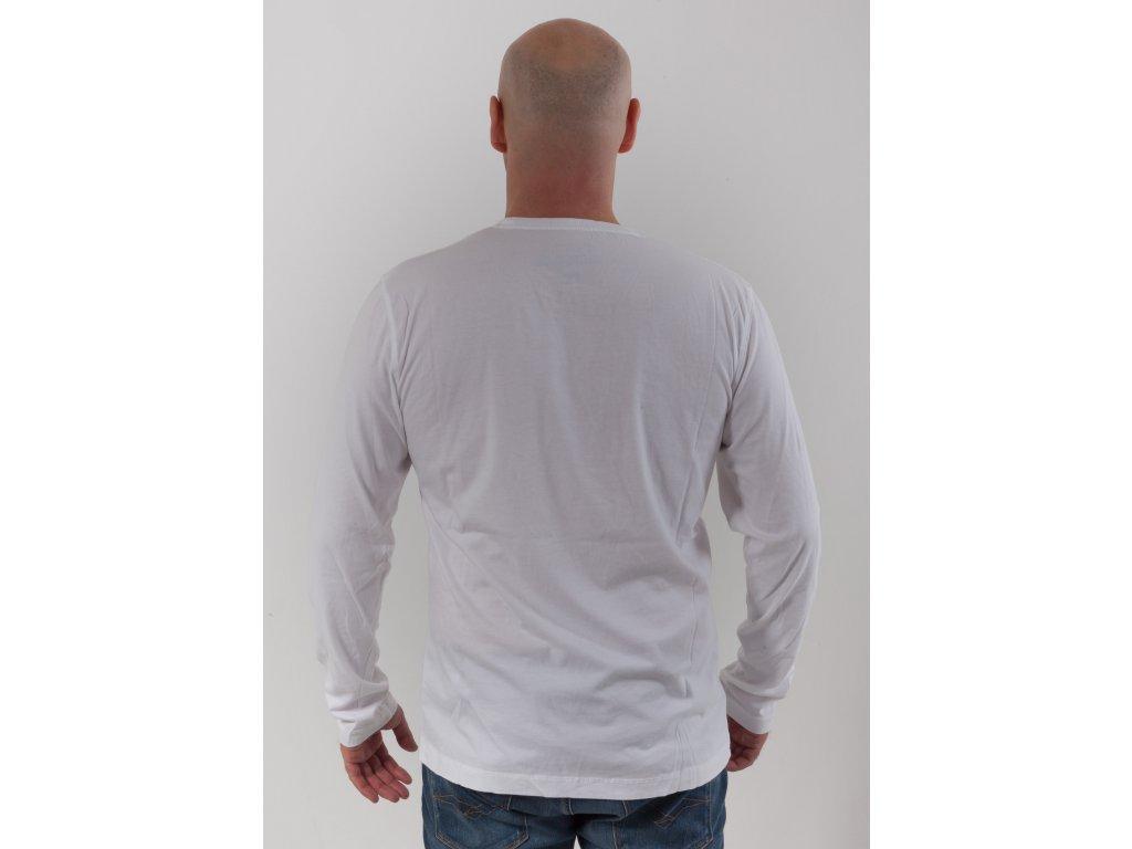 1d28455e83e6 Pánske biele tričko s dlhým rukávom Napapijri - TOP OUTLET