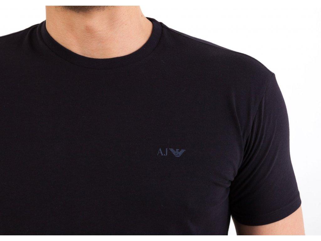 Pánske čierne tričko Armani Jeans - TOP OUTLET d8b9ba245ce