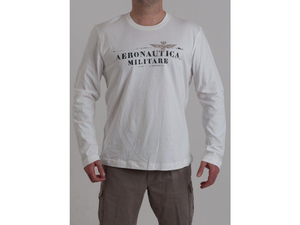 51d0f1d6de2b Pánske tričko v bielej farbe Aeronautica Militare - TOP OUTLET
