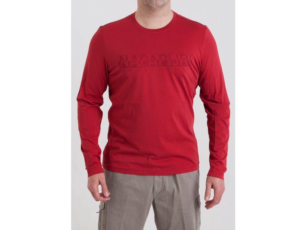 af71223e200f Pánske tričko v červenej farbe Napapijri - TOP OUTLET