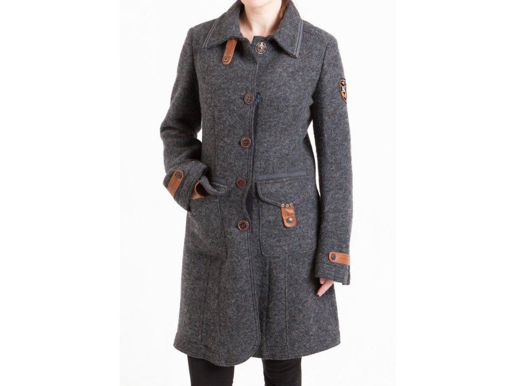 5e20862bf0fe Dámsky šedý kabát Aeronautica Militare - TOP OUTLET