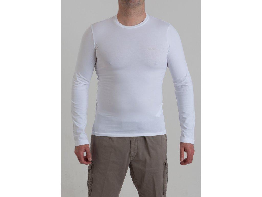 eca6a3e40c5b Pánske biele tričko Armani Jeans - TOP OUTLET