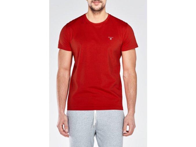 Pánske červené tričko s krátkym rukávom GANT