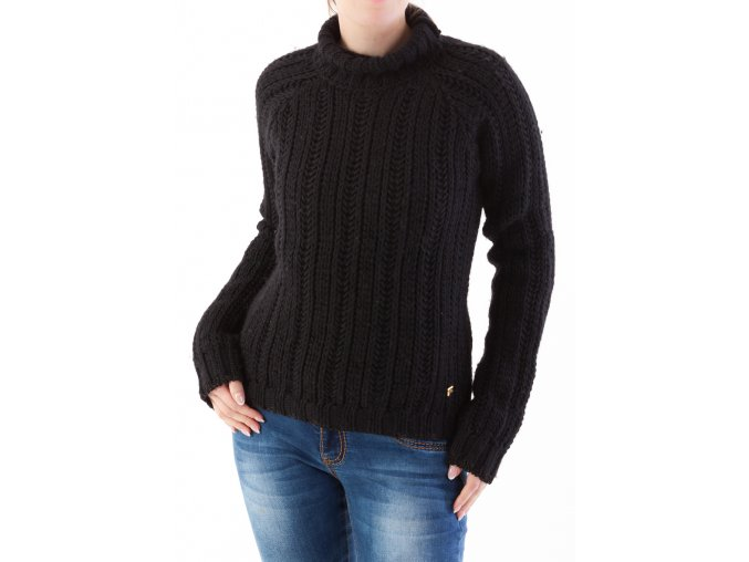 Dámsky čierny rolákový pulóver Trussardi Jeans