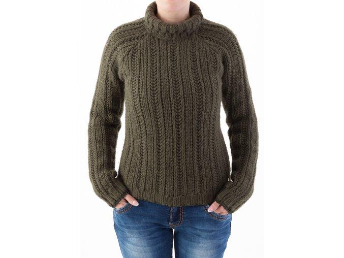 Dámsky tmavozelený pulóver Trussardi Jeans