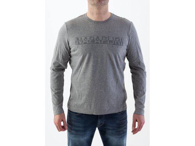 Pánske tričko v šedej farbe Napapijri