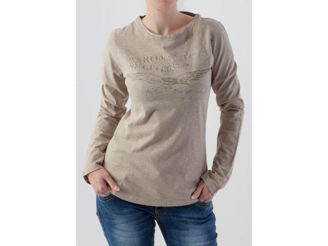 Dámske béžové tričko Aeronautica Militare
