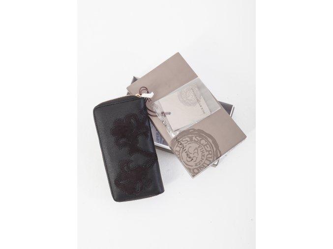 Čierna koženková peňaženka Scrervino Street