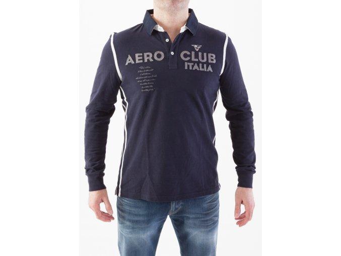 Tmavomodré polo pre pánov AERONAUTICA MILITARE Aero Club Italia