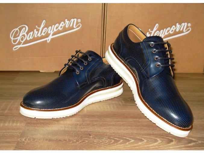 Tmavomodré topánky s bielou porážkou Barleycorn