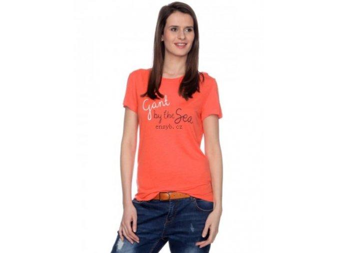 Classic fit Dámské 409816 S GANT 45QH O283 Barva Oranžová Trička