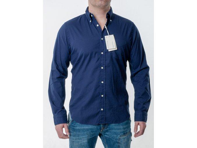 Pánska tmavomodrá košeľa Gant
