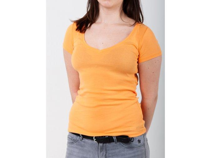 Oranžové dámske tričko Gant