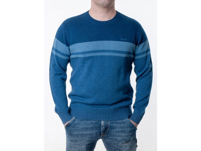 Pánsky modrý pruhovaný sveter Gant