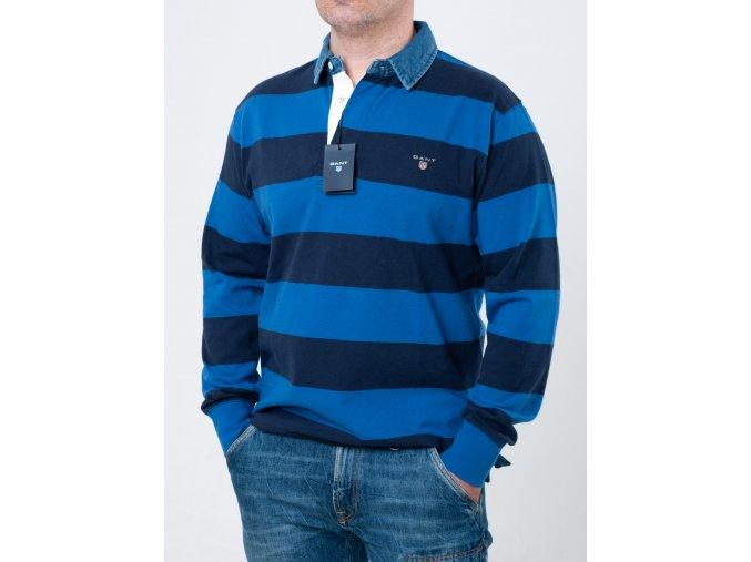 Pruhované modré polo Gant