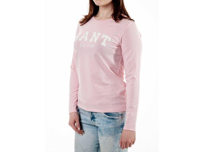 Ružové dámske tričko Gant