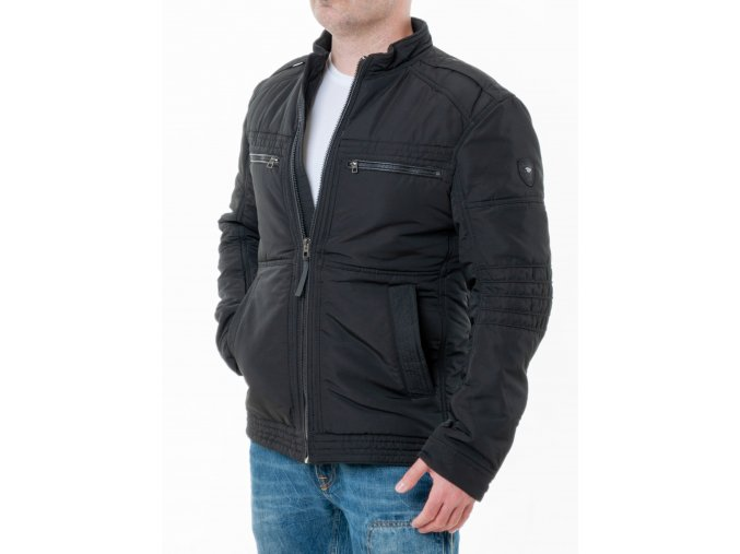 Pánska čierna zimná bunda Tom Tailor