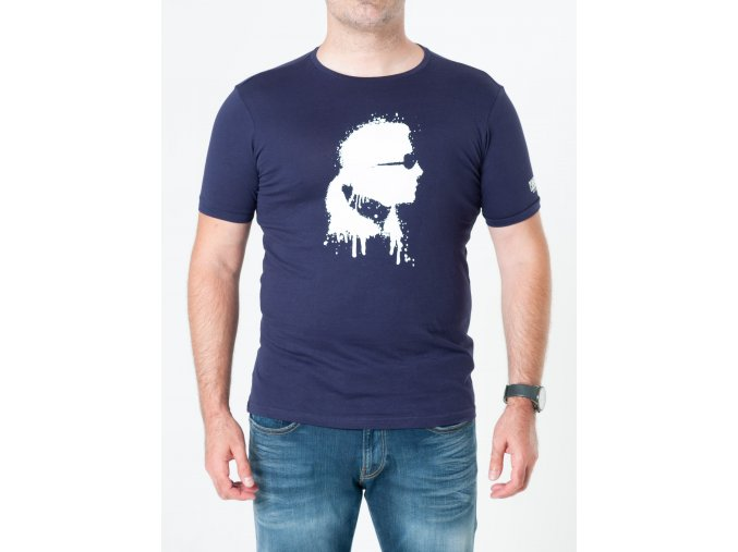 Pánske tmavomodré tričko Karl Lagerfeld