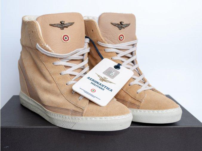 Dámske kožené topánky Aeronautica Militare
