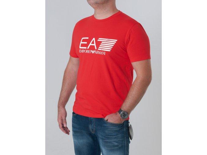 Pánske červené tričko Emporio Armani