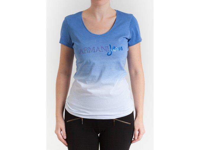 Dámske modré tričko s prechodom Armani Jeans