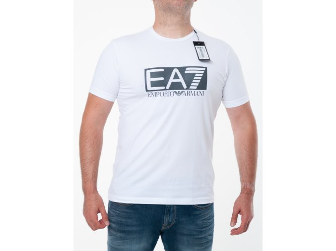 Pánske biele tričko Emporio Armani