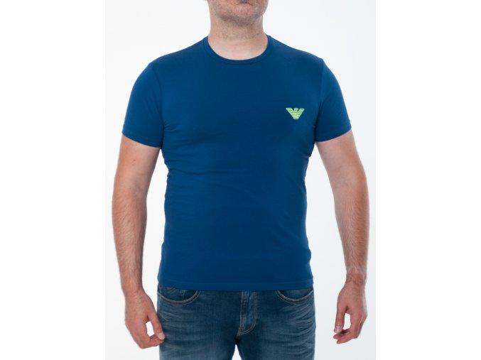 Pánske modré tričko Emporio Armani