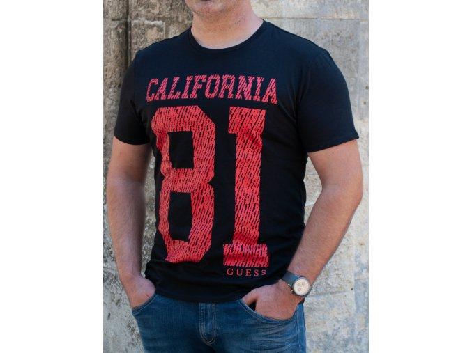 Pánske čierne tričko Guess