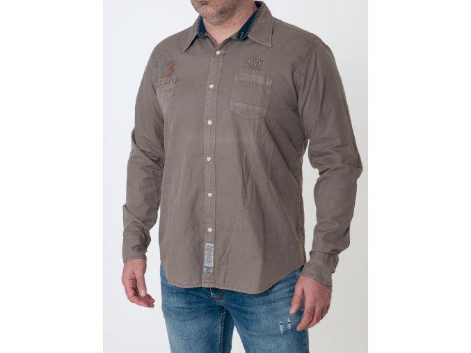 Pánska hnedá košeľa La Martina