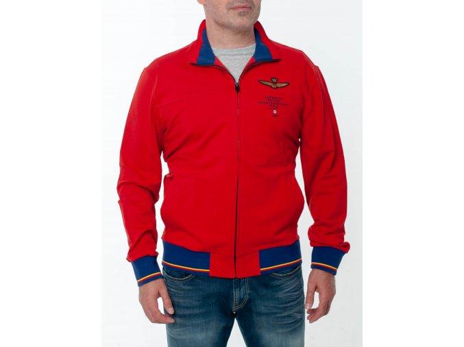 Pánska červená mikina Aeronautica Militare