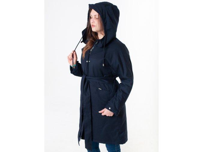Dámsky tmavomodrý kabát Armani  Jeans