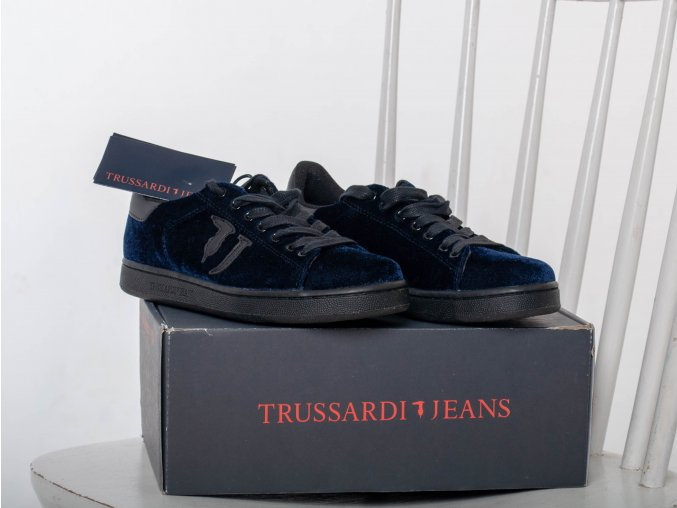Dámske koženo- semišové tenisky Trussardi Jeans