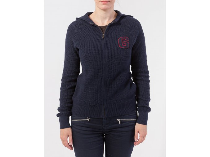Dámsky tmavomodrý sveter s kapucňou GANT