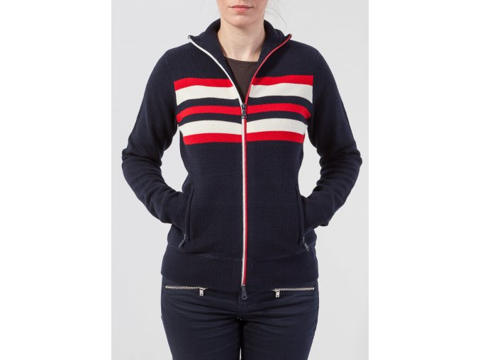 Dámsky sveter s farebnými zipsami GANT