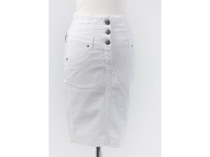 Dámska biela riflová sukňa FAITH