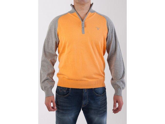 Pánsky oranžovo-šedý sveter GANT