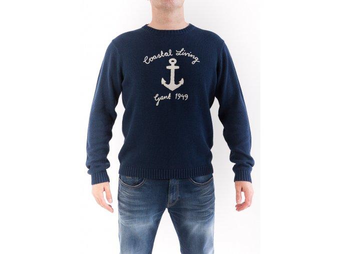 Pánsky sveter s kotvou GANT