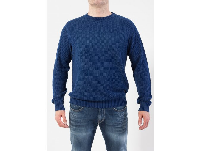 Pánsky sveter vo farbe indigo GANT