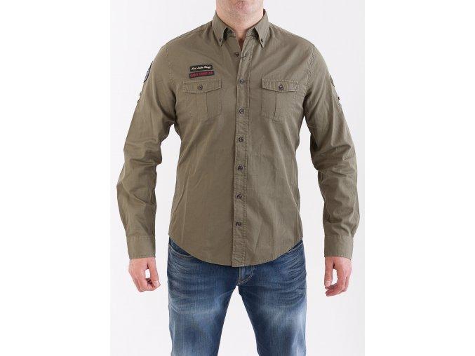 Pánska vojenská zelená košeľa GANT