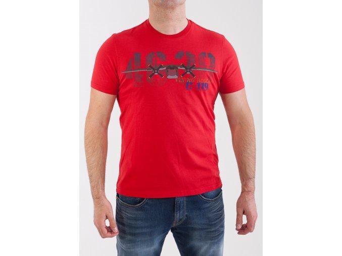 Pánske červené tričko Aeronautica Militare