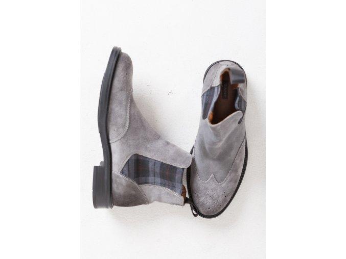 Pánske šedé kožené topánky GANT