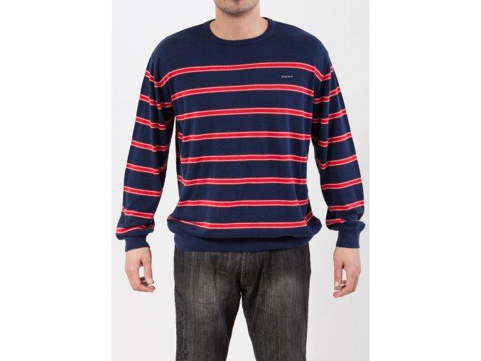 Pánsky tenký tmavomodrý sveter Gant