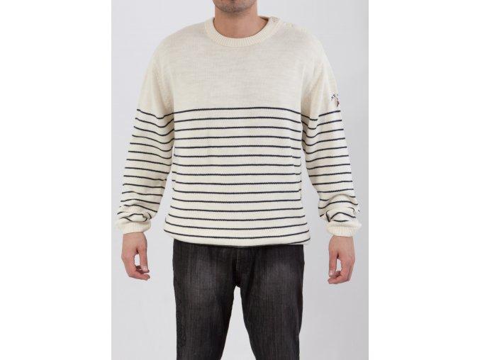 Pánsky béžový pruhovaný sveter Gant
