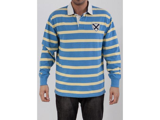Pánske teplé modro-žlté polotričko Gant